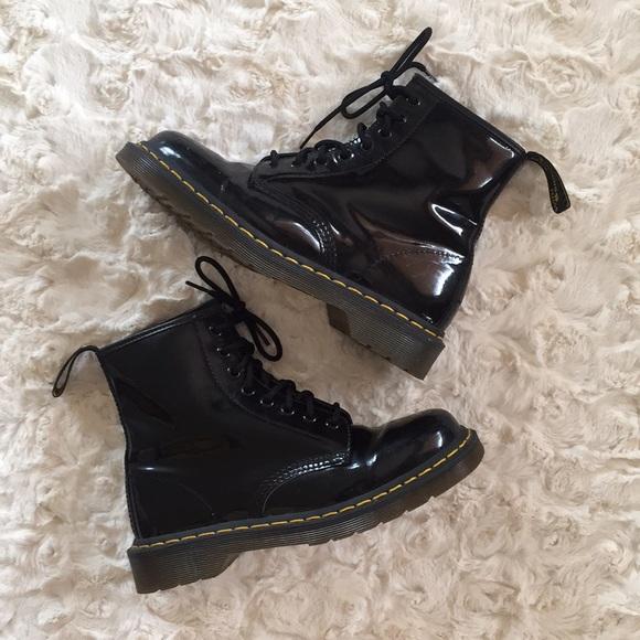 gorące nowe produkty gorąca sprzedaż online tak tanio Dr. Martens Air Wair 1450 Black Patent boots 39